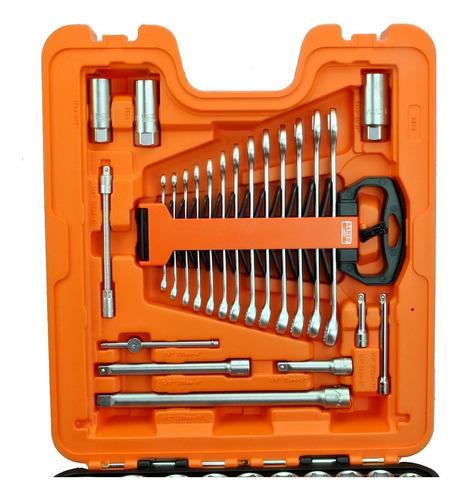 set juego tubos y llaves caja bahco s138 el set mas completo milimétrico y pulgadas stock permanente