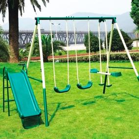 Set Juegos 3 Hamacas Jardín + Tobogán Infantil Niño - El Rey