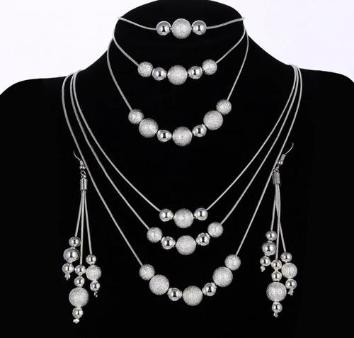 set juegos de accesorios collares, brazaletes, aretes