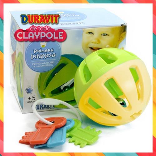 set juguete duravit bebé: esfera cascabel + mordillo llave