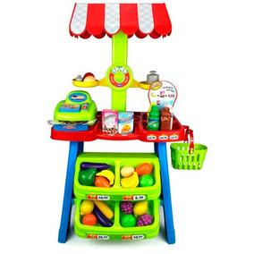 Kiosko Y Frutas Verduras Set De Juguetes DE9HW2I