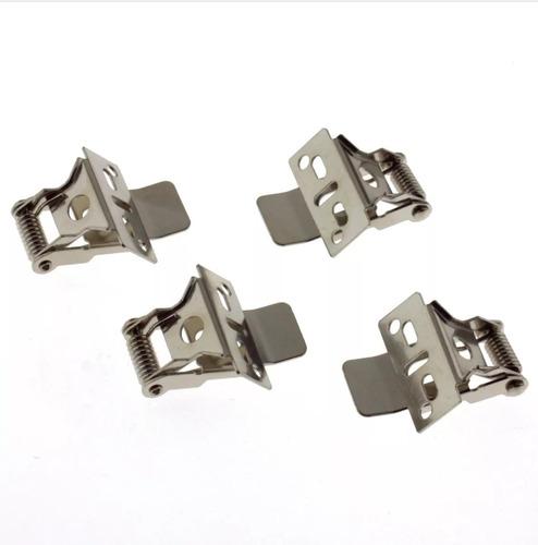 set kit 4 clips sujecion embutir paneles led 60x60