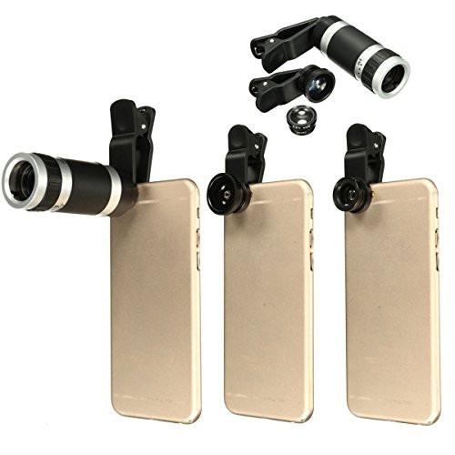 set kit 4 lentes zoom 8x18+3 lentes/más de 500 vendidos !!