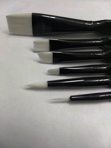 set kit 6 pinceles artistas, oleo, acrílico, profesionales