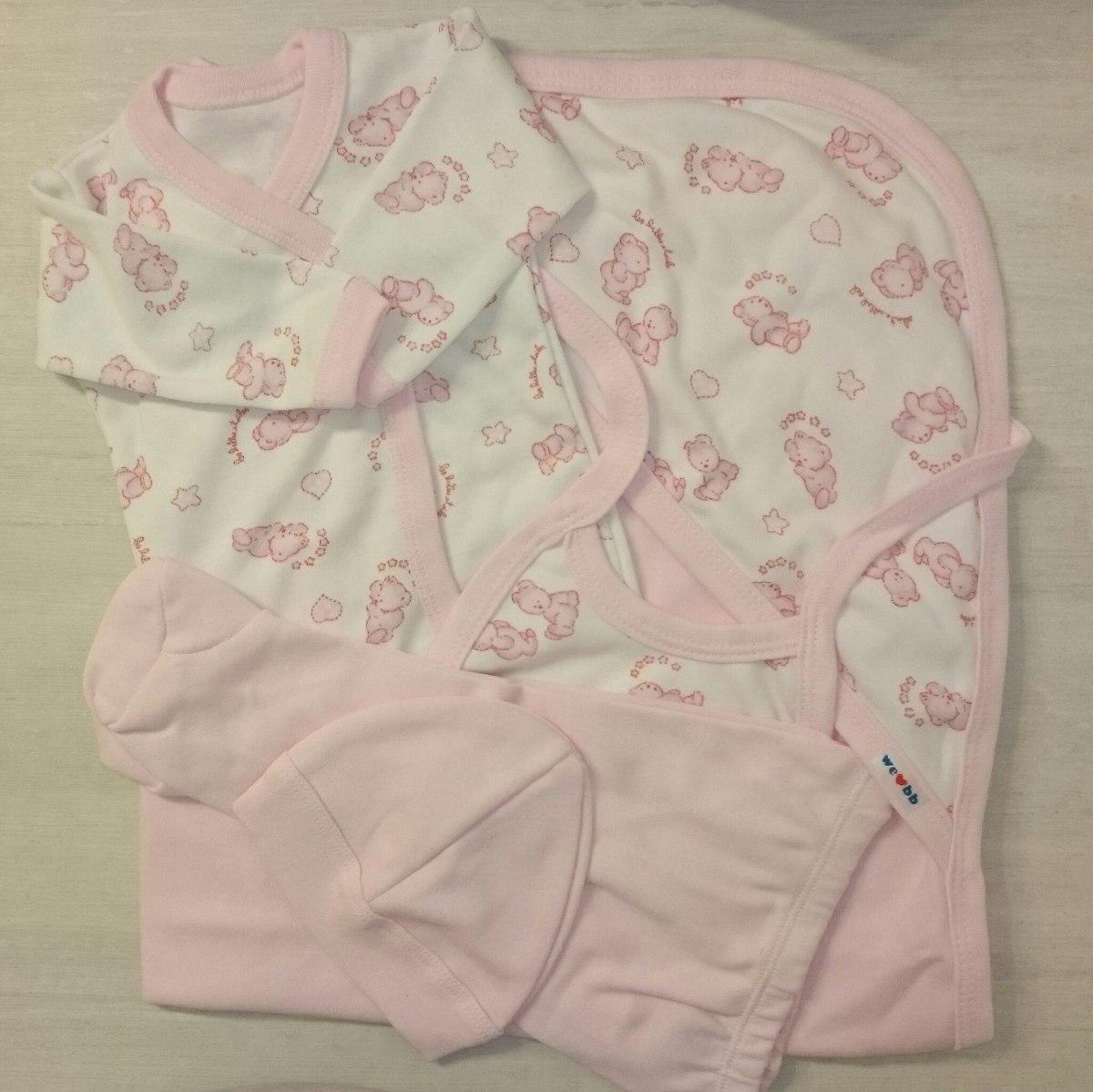 bb23db453 Set Kit Ajuar Ropa Recién Nacido 5 Piezas Algodón Para Bebé -   499 ...