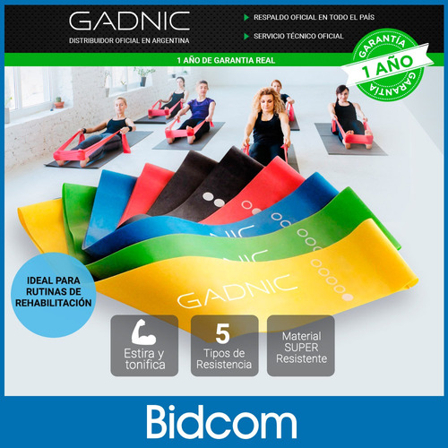 set kit bandas fitness isometricas accesorios ejercicio