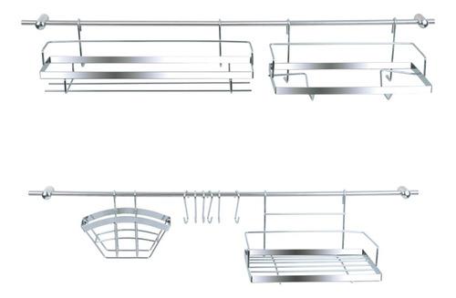 set kit de cocina 16 piezas metálico cromo daccord coc0imp11