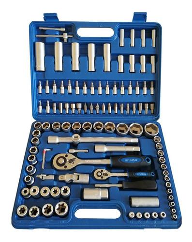 set kit de herramientas 108 piezas maletin hyundai - sti