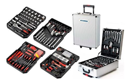 set kit de herramientas 386 piezas + valija hyundai - cuotas