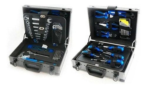 set kit de herramientas kld set 63 piezas + caja plegable