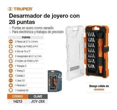 set kit destornillador porta puntas 28 bits estuche bolsillo
