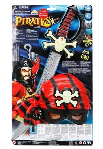 set kit escenario pirata máscara y espada pirates original!!