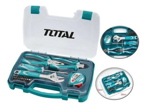 set kit herramientas de mano total 25 piezas
