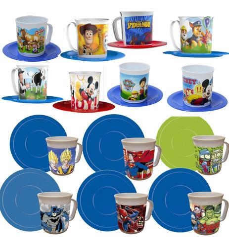 set kit jardín de infantes taza + plato nene spider mmk bn14