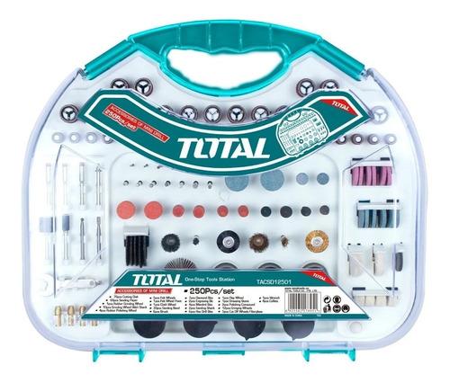 set kit juego accesorios mini torno total 250 piezas maletin