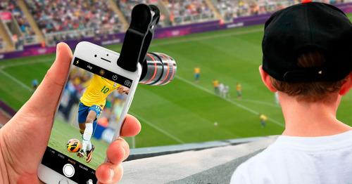 set kit lente zoom 8x18 mas 3 lentes celulares, el mejor !!