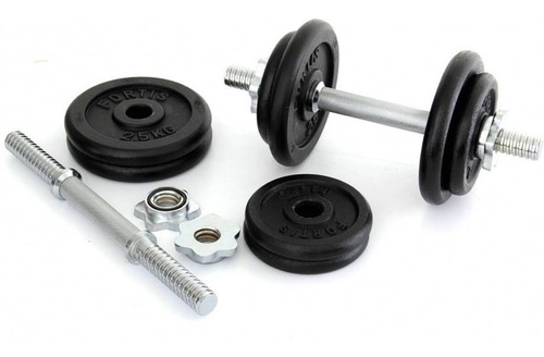 set kit pesas barra mancuernas juego* 38 libras gym graduabl