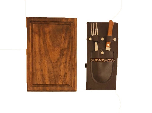 set kit plato y cubiertos parrillero - oferta