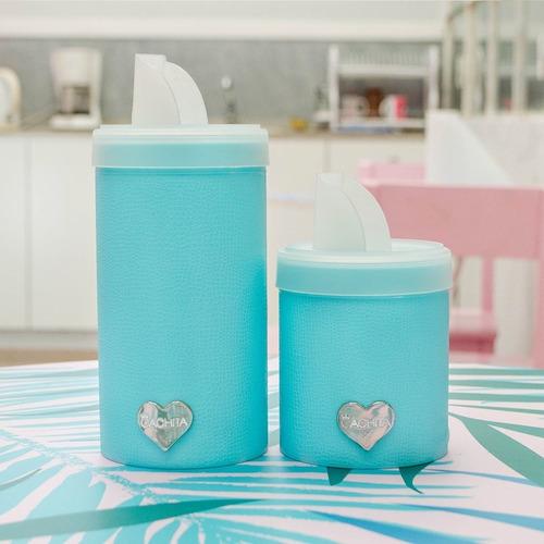 set latas plasticas yerba azucar vertedor diseño cachita