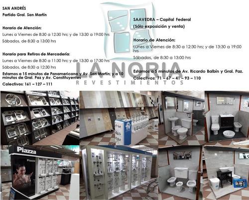 set lavatorio c/ columna bari ferrum + grifería opima piazza