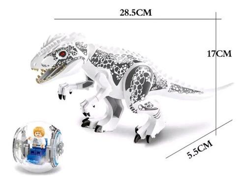 set legoe rex indominus grande 30 cm + figura jurassic world