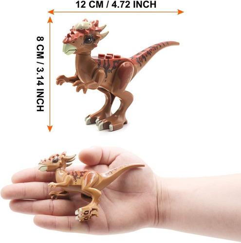 set legoe x 8 dinosaurios armables 12 cm jurassic world v3