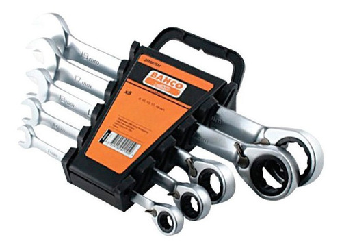 set llaves combinadas bahco 5 pz crique fijo 2rm/5h bah09605
