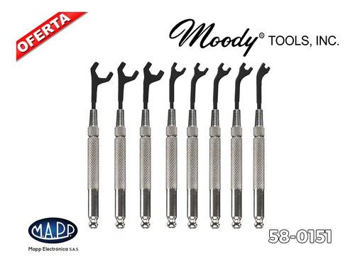 set llaves de tuerca (8 piezas) moody tools