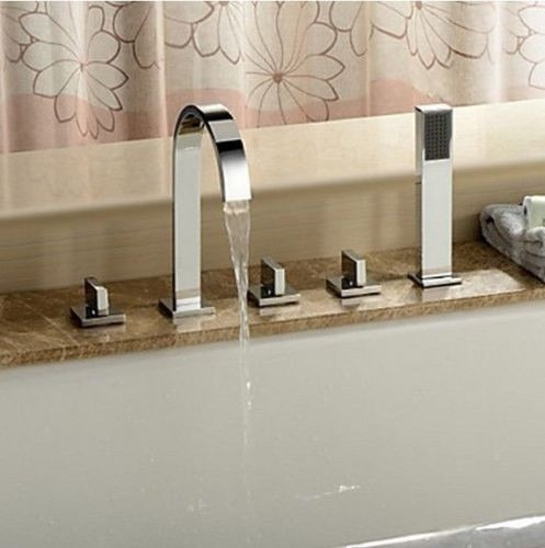 set llaves y grifo con ducha de mano para tina de ba o 1