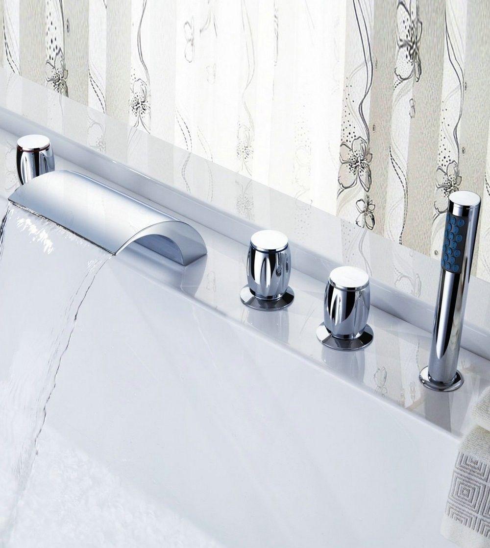 set llaves y grifo con ducha de mano para tina de ba o 3