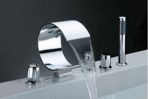 Set llaves y grifo con ducha de mano para tina de ba o 8 for Llave ducha telefono