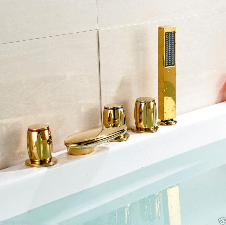 Set llaves y grifo con ducha de mano para tina de ba o a for Llave monocomando para ducha