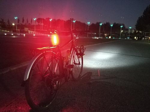 set luces led bontracker one usb bici commuter2+sticker free