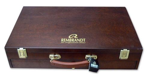 set madera oleo rembrandt excellent box (5805)