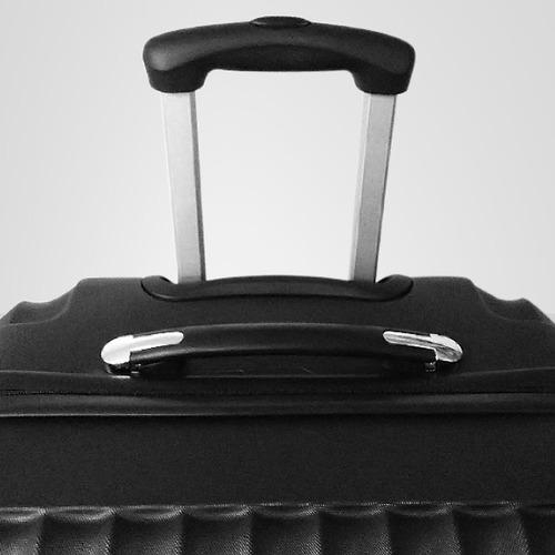 set maleta 3 piezas rígida color negro, abs, viaje, baratas
