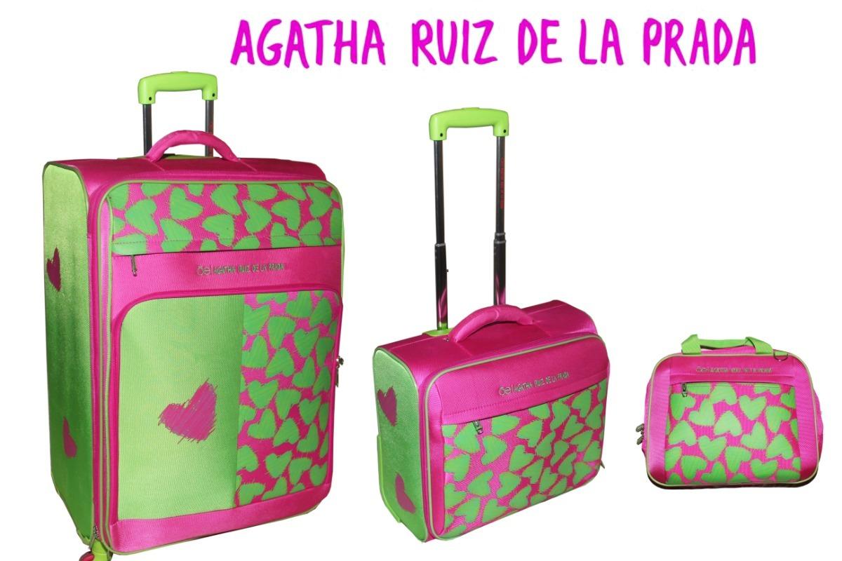b5d647ca6 Set Maletas Agatha Ruiz De La Prada - $ 7,328.00 en Mercado Libre