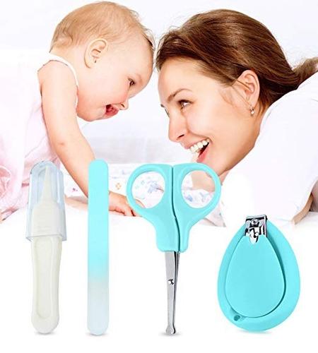 set manicure  para bebés y niños pequeños verde