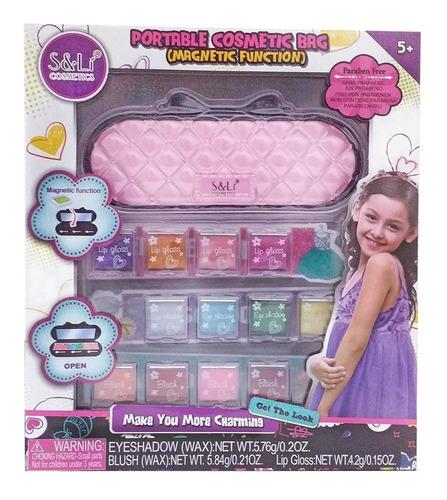 set maquillaje para nenas bolso cosmetico de viaje juguetes