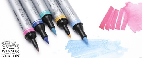 set marcadores acuarelables x 6 winsor and newton