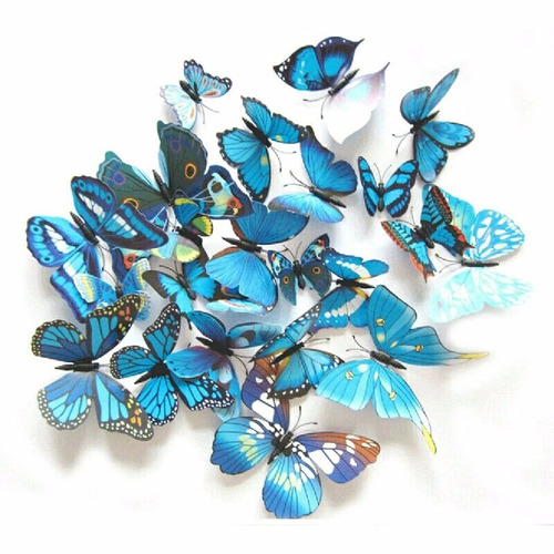 set mariposas decoración pared refrigerador imán pegatina