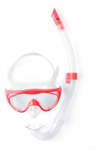 set mascara y snorkel speedo glide ju  (no envios)
