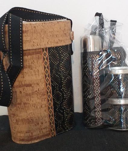 set matero completo diseño termo acero 1 litro y accesorios