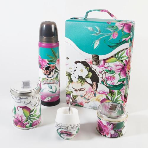 set matero completo para viaje cardaccio frida flowers