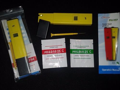 set medidor de ph pre-calibrado - incluye pilas
