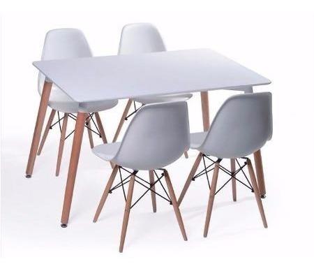 set mesa eames 120x80 + 4 sillas - promoción!!