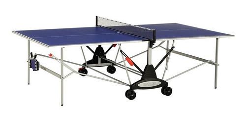 set mesa ping pong kettler aluminio, raquetas y 120 pelotas
