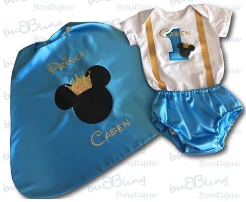 Set Mickey Mouse Prince Bebe Nino De Cumpleanos Personalizad S