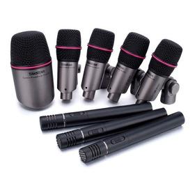 Set Micrófonos Bateria Takstar Dms-dh8p 8 Mics Bombo Oh Redo