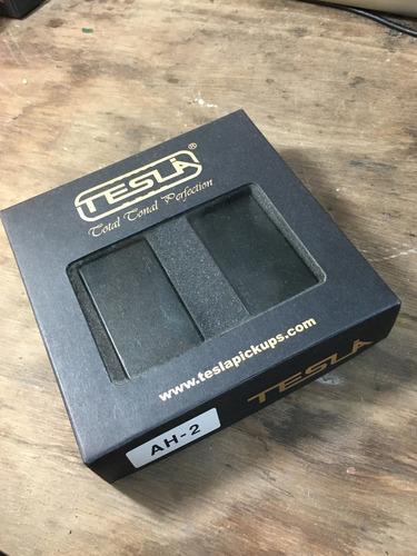 set microfonos humbuckers activos tesla negros ah-2