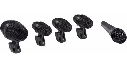 set microfonos para bateria shure pgadrumkit5 pga drumkit 5